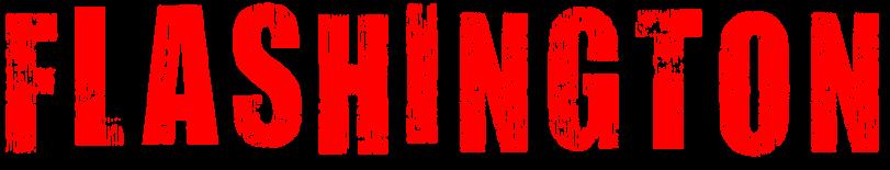 Flashington white logo